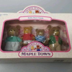 NEW - Vintage Bobby Bear's Family Maple Town